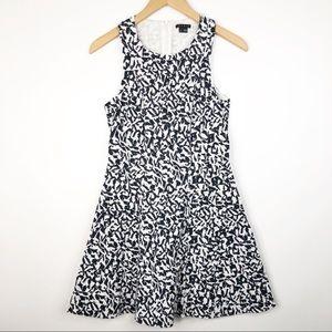 Theory Eyelet Patterned Dress Navy White